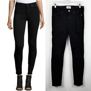 PAIGE Hoxton Ultra-Skinny Ankle Jeans,Black Shadow